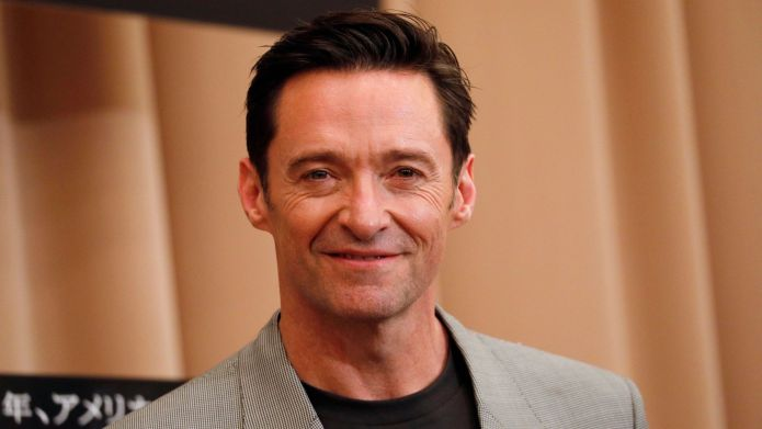 Hugh Jackman poses during a press