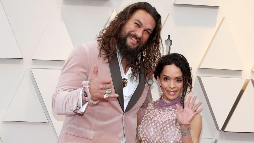 Jason Momoa and Lisa Bonet at the 2019 Oscars.