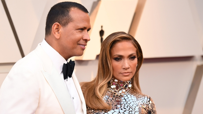 Alex Rodriguez and Jennifer Lopez91st Annual