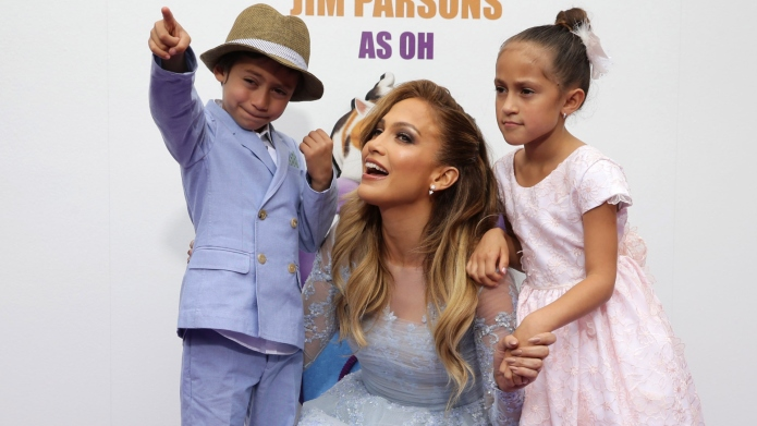 Jennifer Lopez with twins Max and