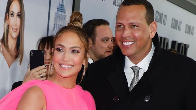Jennifer Lopez & Alex Rodriguez at the 'Second Act' film premiere
