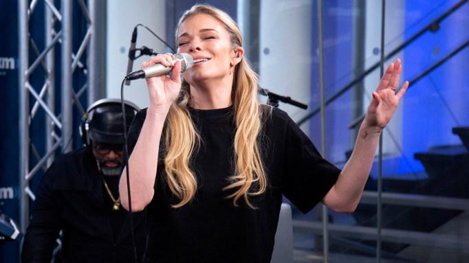 LeAnn Rimes visits SiriusXM Studios on November 8, 2018 in New York City.