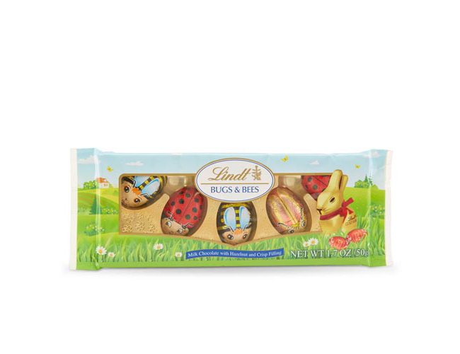 Lindt Bugs and Bees Hazelnut Cream Easter Chocolates
