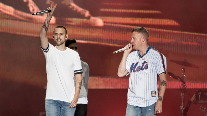 Macklemore and Ryan Lewis perform on Day 4 of Sziget Festival 2017 on August 12, 2017 in Budapest, Hungary.