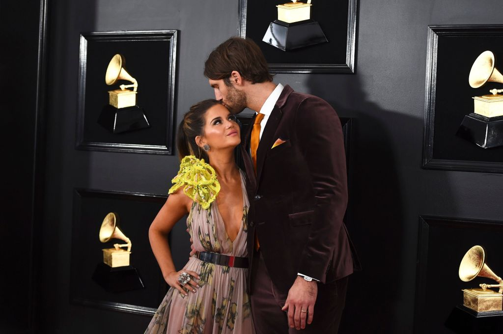 Maren Morris, Ryan Hurd. Maren Morris, left, is kissed by her husband Ryan Hurd as they arrive at the 61st annual Grammy Awards at the Staples Center, in Los Angeles 61st Annual Grammy Awards - Arrivals, Los Angeles, USA - 10 Feb 2019