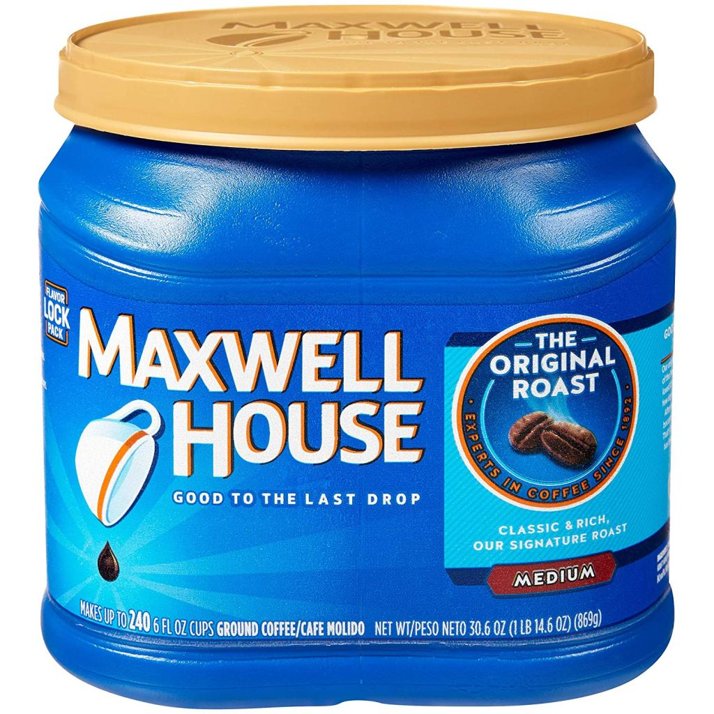 Maxwell House grocery store coffee.