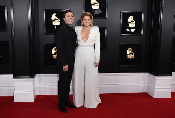 Daryl Sabara, Meghan Trainor. Daryl Sabara, left, and Meghan Trainor arrive at the 61st annual Grammy Awards at the Staples Center, in Los Angeles 61st Annual Grammy Awards - Arrivals, Los Angeles, USA - 10 Feb 2019