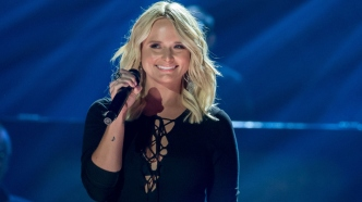 Miranda Lambert performing during a concert.