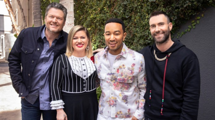 Blake Shelton, Kelly Clarkson, John Legend