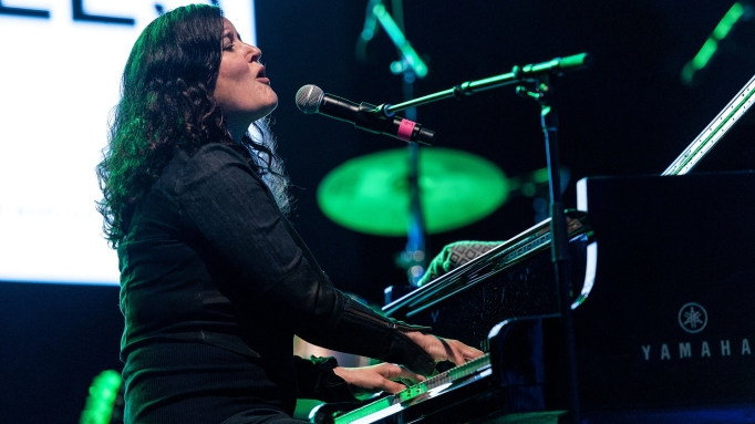 Paula Cole performs on stage during the 2014 City Parks Foundation Gala at Rumsey Playfield, Central Park on June 3, 2014 in New York City.