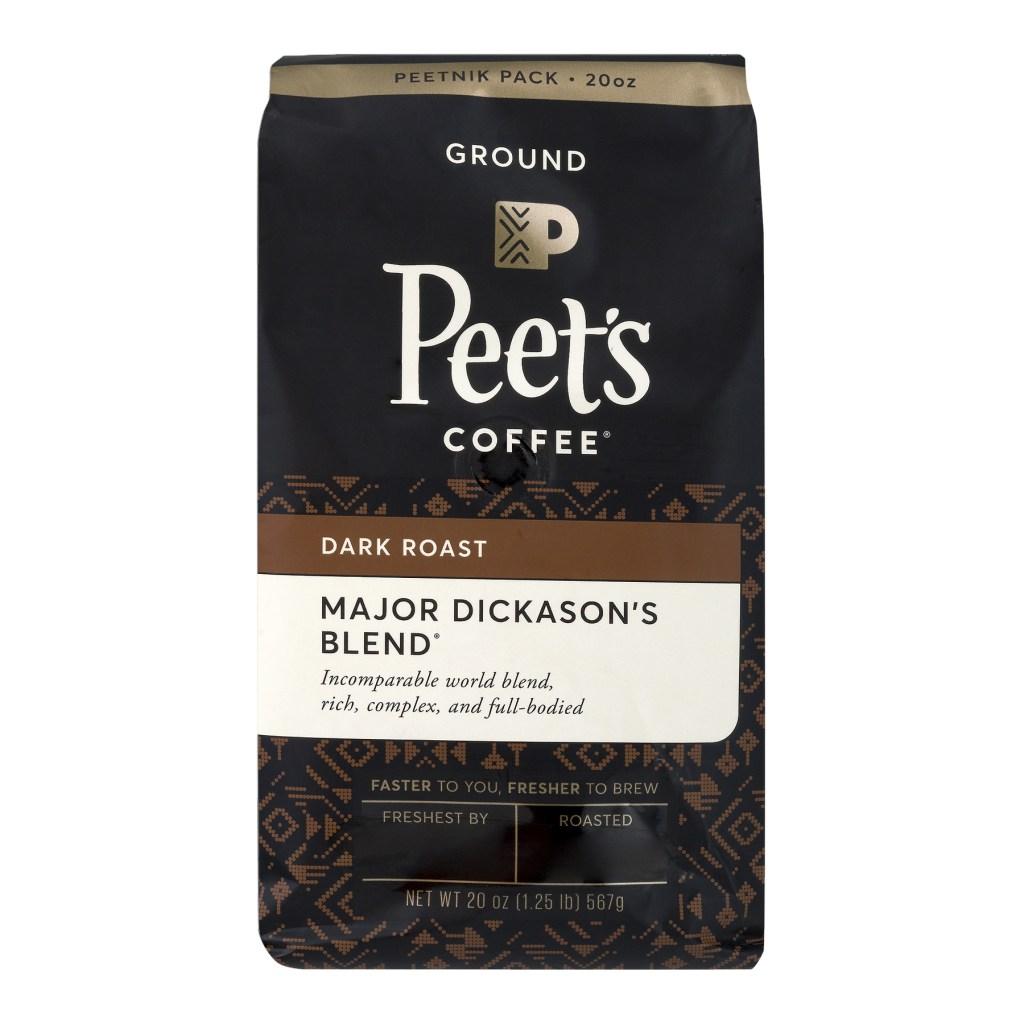 Peet's Coffee grocery store coffee.