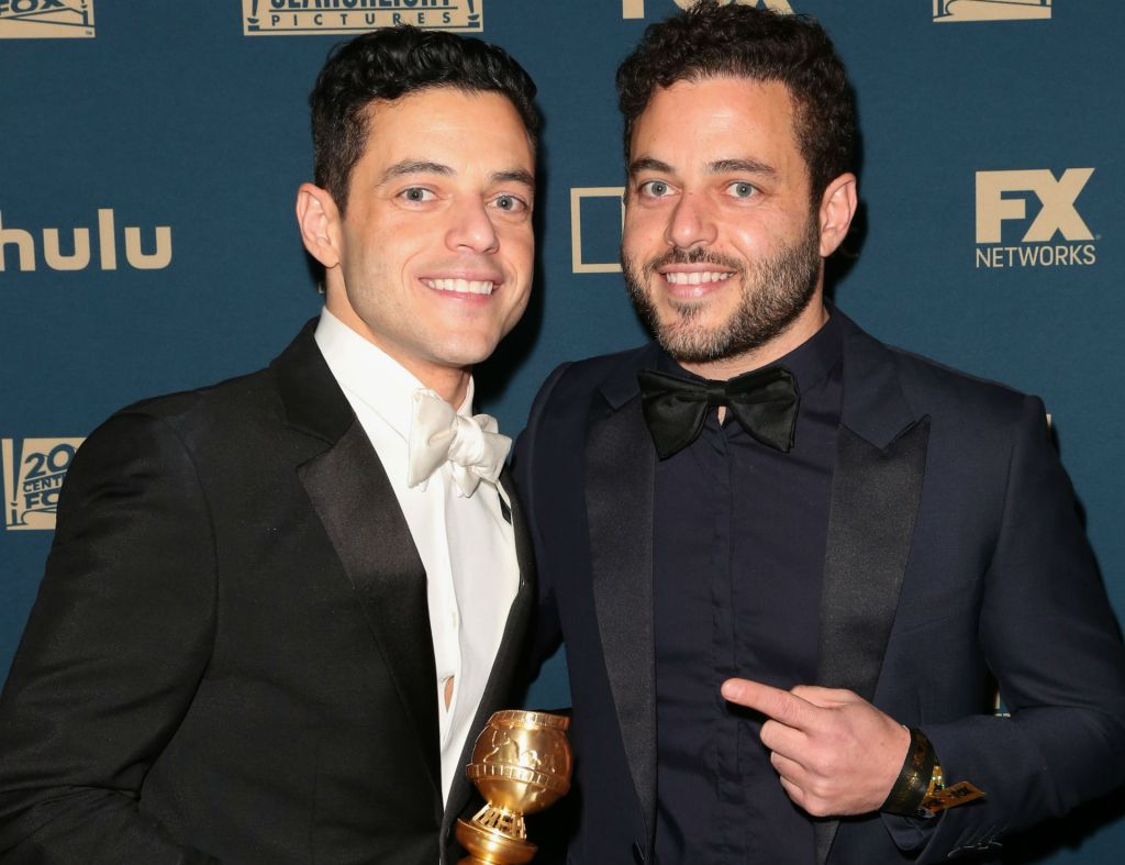 Photo of Rami Malek and Sami Malek at 2019 Golden Globes after party