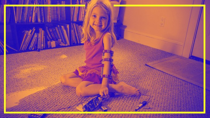 graphic photo of girl with robotic