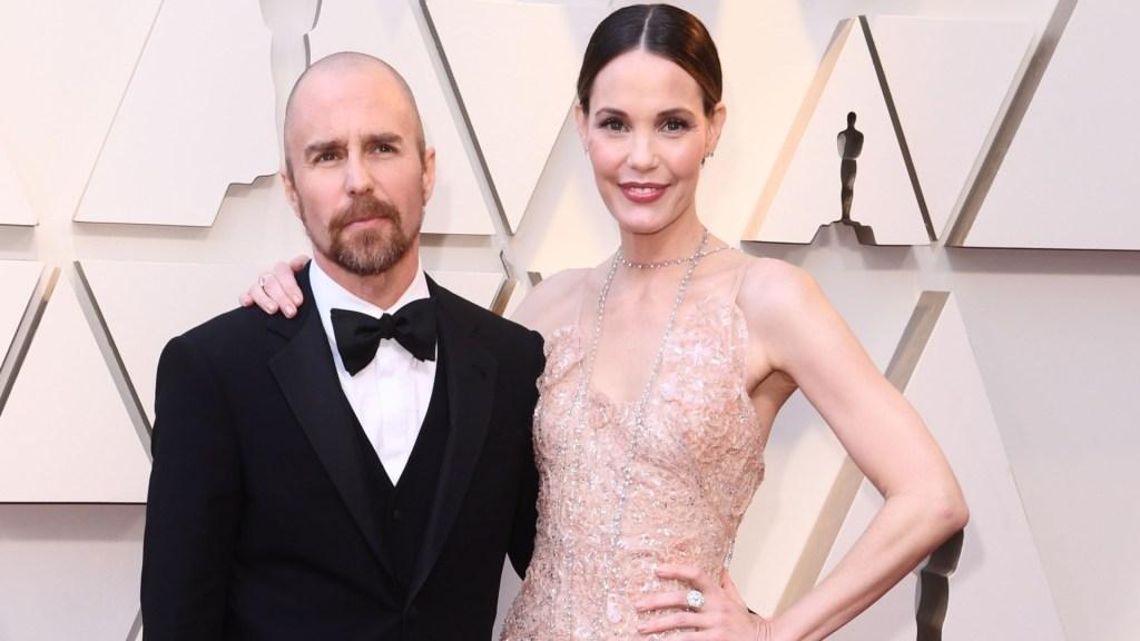Sam Rockwell and Leslie Bibb at the 91st Oscars.
