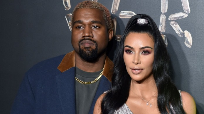 Kim Kardashian and Kanye West at