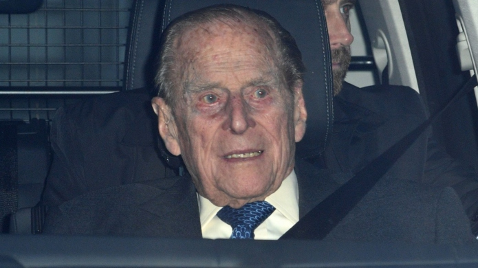 Prince Philip in the passenger seat