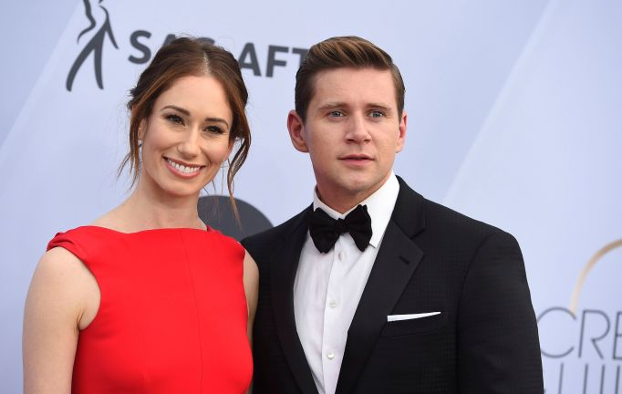 Jessica Blair Herman, Allen Leech. Jessica Blair Herman, left, and Allen Leech arrive at the 25th annual Screen Actors Guild Awards at the Shrine Auditorium & Expo Hall, in Los Angeles 25th Annual SAG Awards - Arrivals, Los Angeles, USA - 27 Jan 2019