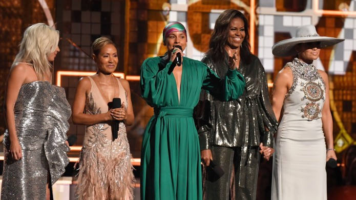 Michelle Obama at the 61st Grammys