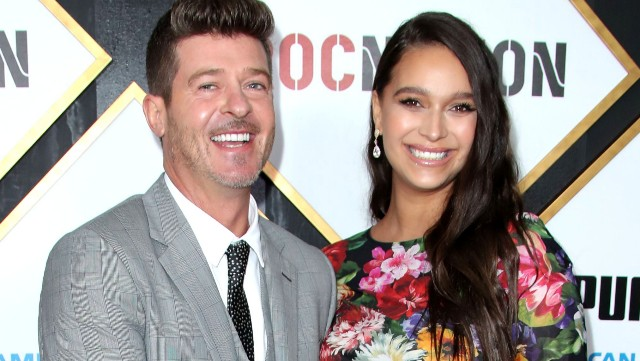 Photo of April Love Geary & Robin Thicke