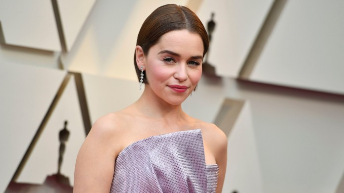 Emilia Clarke at 2019 Oscars red