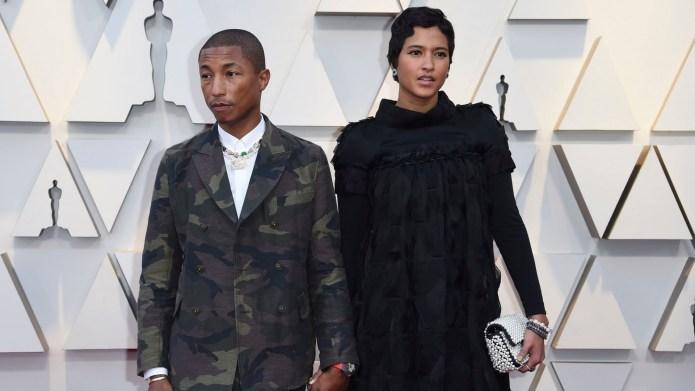 pharrell and wife at 2019 oscars
