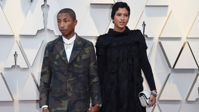 pharrell and wife at 2019 oscars