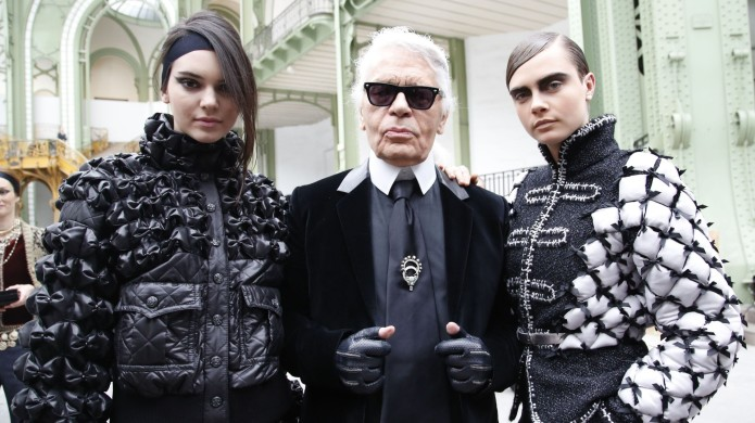 Karl Lagerfeld with Kendall Jenner and