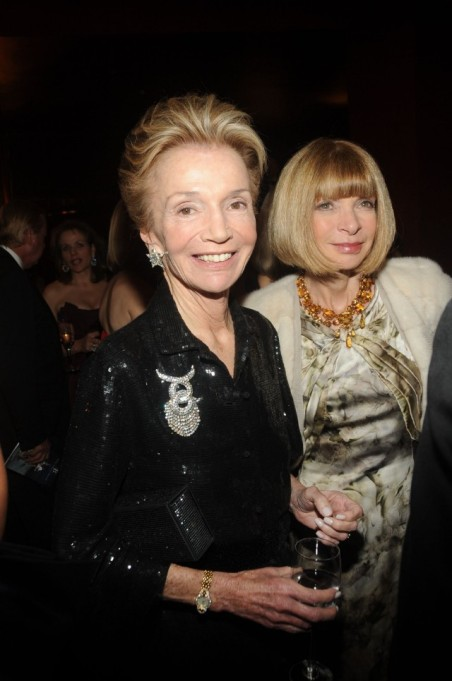 Lee Radziwill and American Vogue's Anna Wintour attend the American Ballet Theater's annual Spring Gala
