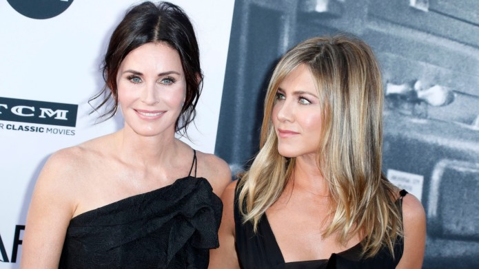 Courteney Cox and Jennifer Aniston at