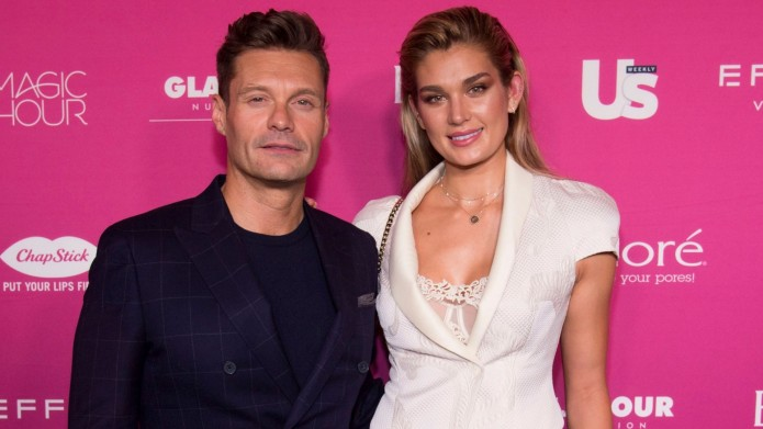 Ryan Seacrest and Shayna Taylor at