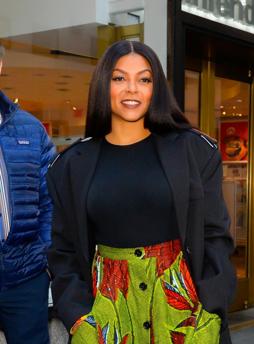 NEW YORK, NY - FEBRUARY 04: Actress Taraji P. Henson is seen outside the today show on February 4, 2019 in New York City. (Photo by Raymond Hall/GC Images)