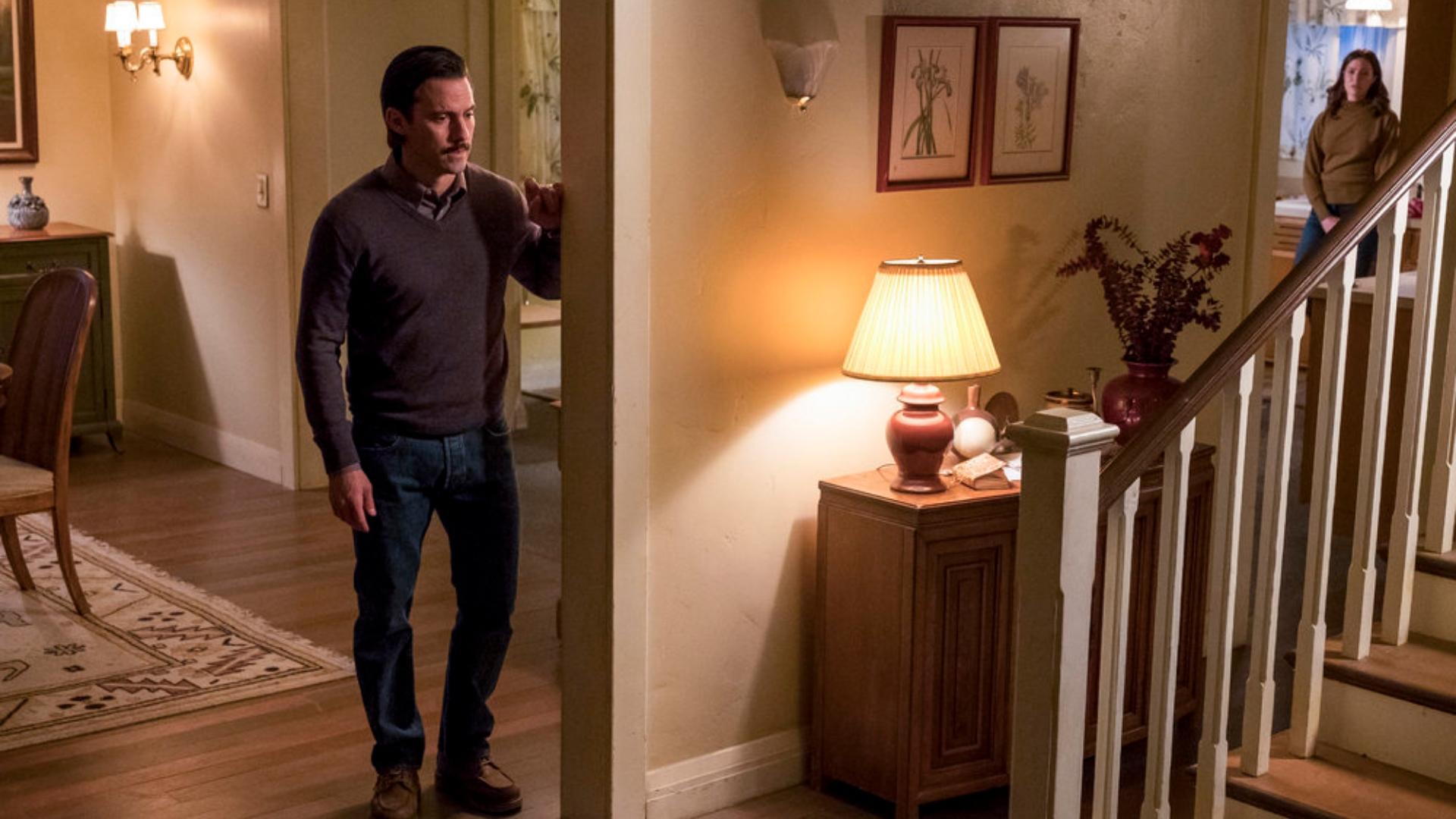 Pictured: (l-r) Milo Ventimiglia as Jack, Mandy Moore as Rebecca.