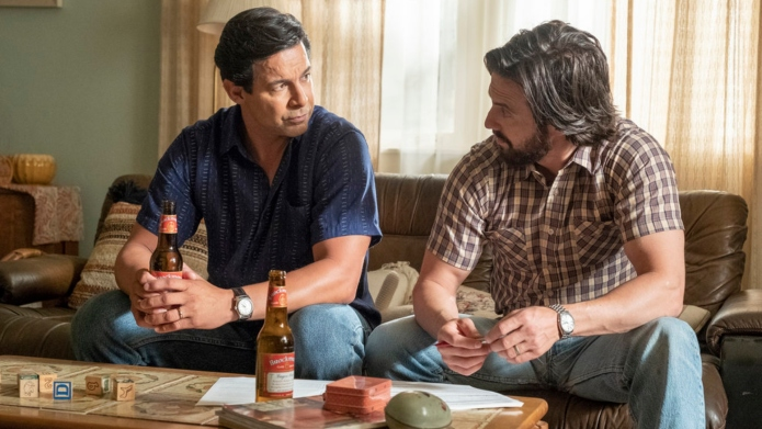 Pictured: (l-r) Jon Huertas as Miguel