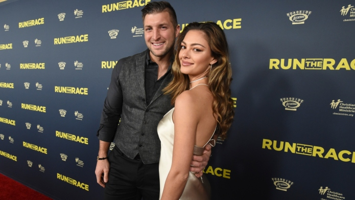 Tim Tebow and Demi-Leigh Nel-Peters.
