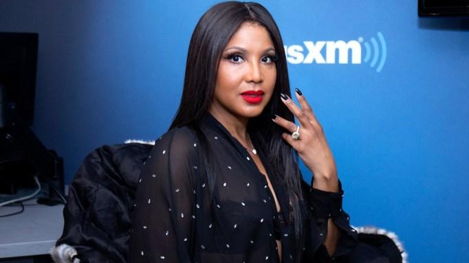Toni Braxton visits SiriusXM Studios on November 12, 2018 in New York City.