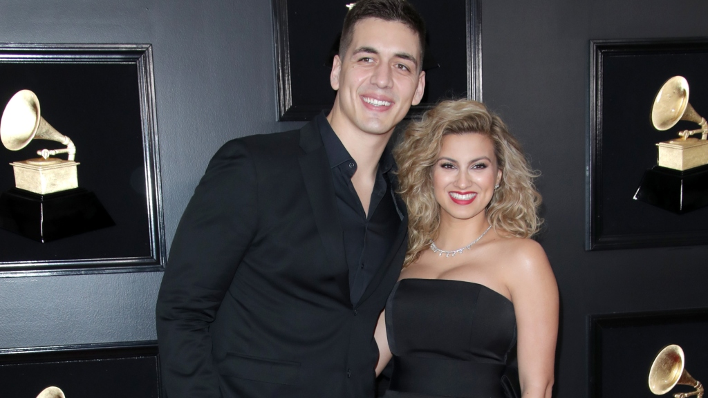 Tori Kelly and Andre Morillo at the Grammys.