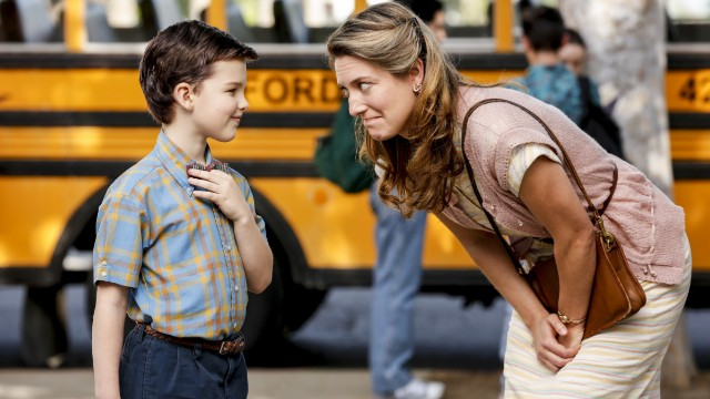Still of Ian Armitage and Zoe Perry on 'Young Sheldon' on CBS