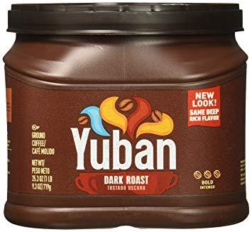 Yuban grocery store coffee.