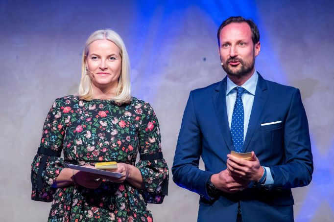 Norwegian Crown Prince Haakon (R) and Crown Princess Mette-Marit attend a ceremony on the UN International Day of Voluntary Efforts in Oslo, Norway, 05 December 2018. The Royal couple handed out prices for different voluntary work. UN International Day of Voluntary Efforts Awards in Oslo, Norway - 05 Dec 2018