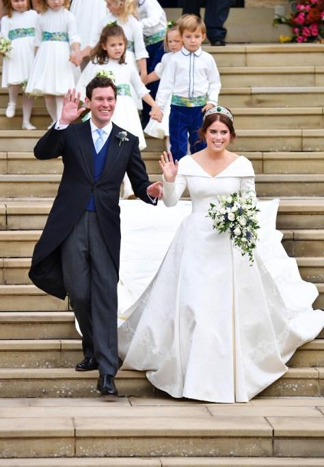 Jack Brooksbank and Princess Eugenie The wedding of Princess Eugenie and Jack Brooksbank, Carriage Procession, Windsor, Berkshire, UK - 12 Oct 2018
