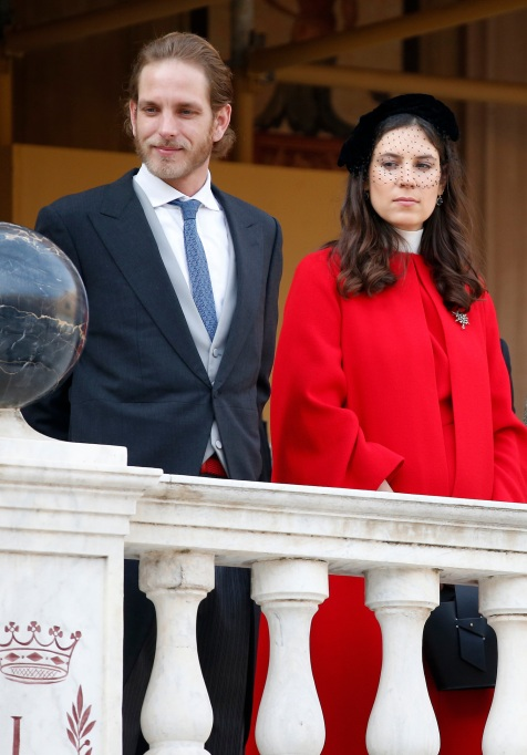 Andrea Casiraghi, left, and his wife Tatiana Santo Domingo attend the celebrations marking Monaco's National Day in Monaco, . Monaco's Fete Nationale has been celebrated since the reign of Prince Charles III in 1857 National Day, Monaco, Monaco - 19 Nov 2017