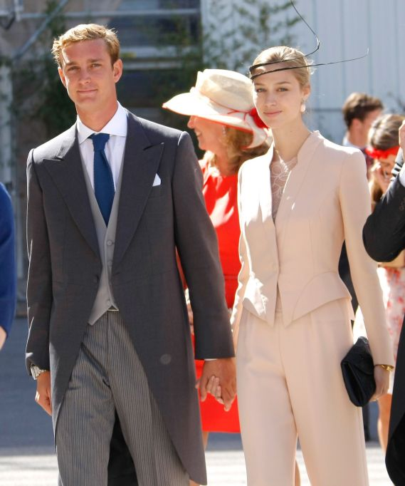 Pierre Casiraghi of Monaco, Beatrice Borromeo Pierre Casiraghi of Monaco and Beatrice Borromeo after the religious wedding of Prince Felix of Luxembourg and his wife Claire Lademacher in Saint-Maximin-La-Sainte-Baume, southern France France Luxembourg Royal Wedding, Saint-Maximin-La-Sainte-Baume, France