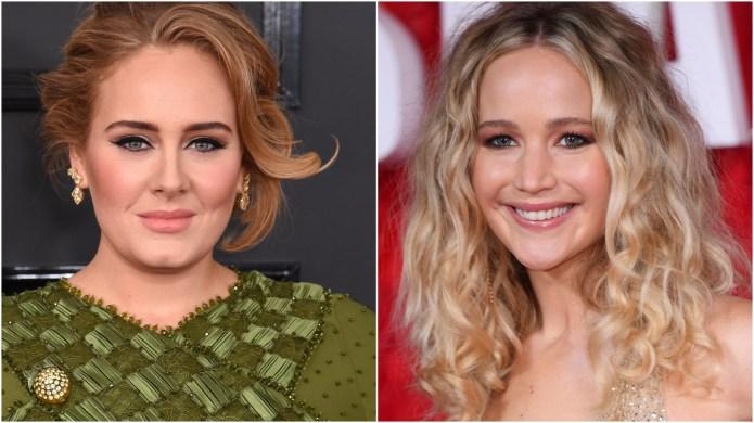 Adele and Jennifer Lawrence.