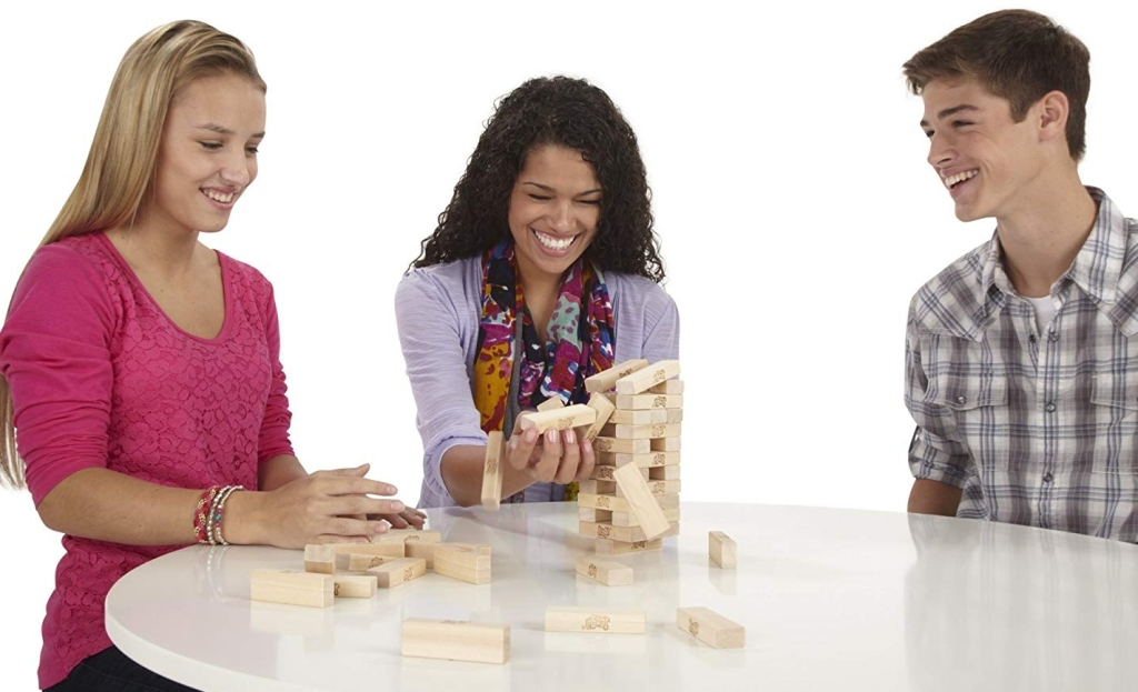 Jenga board game.