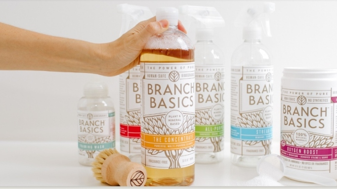 Branch Basics cleaning supplies.