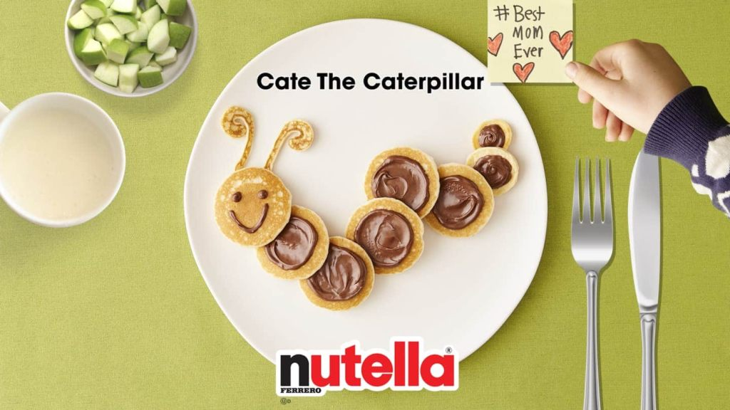 Cate the Caterpillar Nutella Pancake