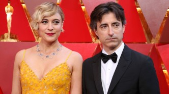 Gerwig and Baumbach at 2018 Oscars