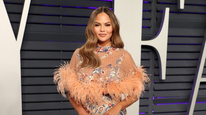 Chrissy Teigen attends the 2019 Vanity Fair Oscar Party