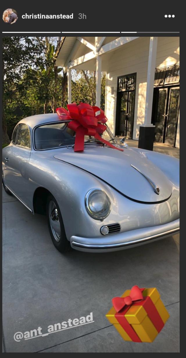Christina Anstead Instagram photo Ant Anstead 40th birthday present car