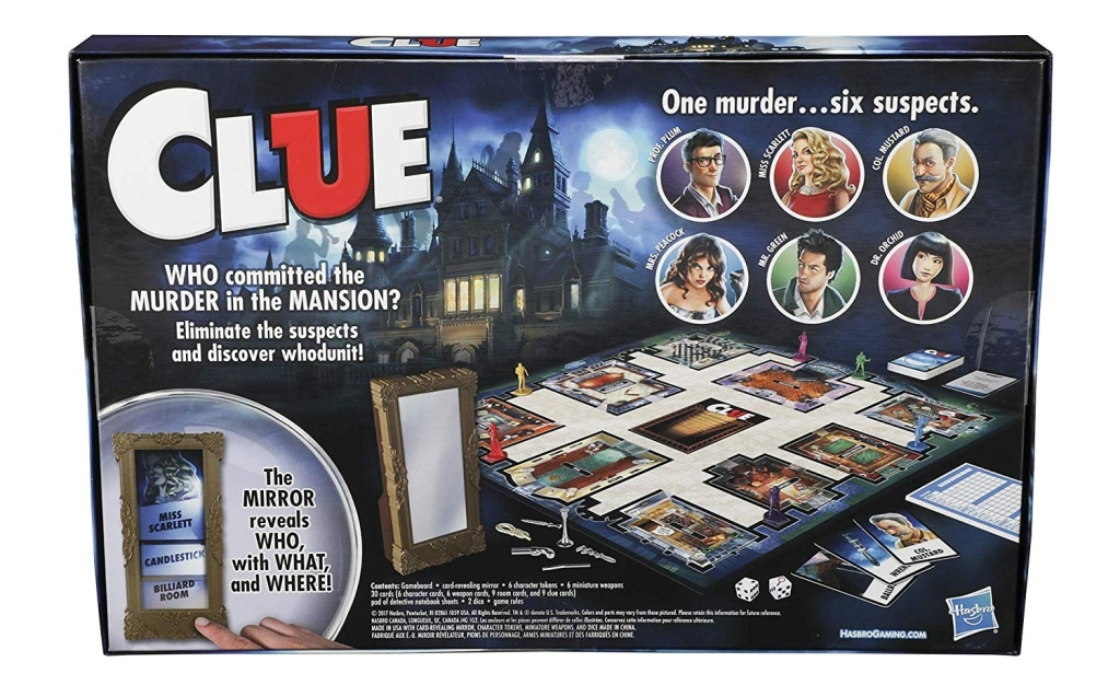 Clue board game.